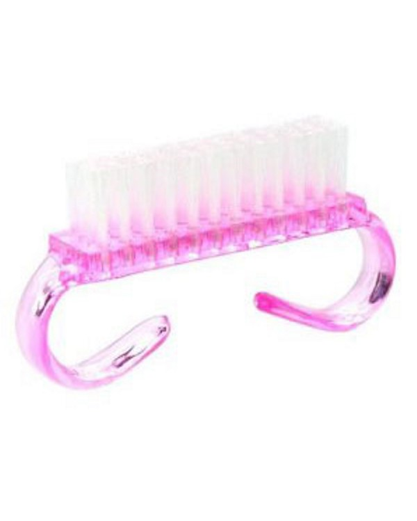 Brosse ongle rose 1