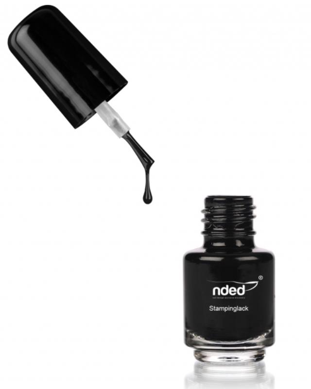 Nded vernis stamping noir 8987 5ml embellissetvous fr