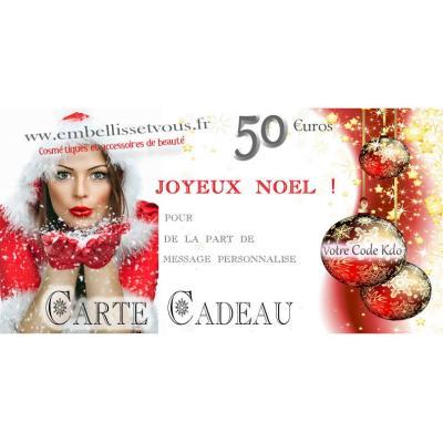 Carte Cadeau Noël personnalisable