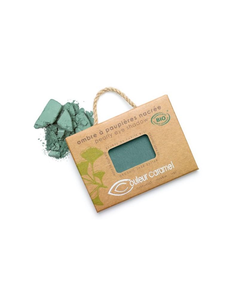 Couleur caramel 111050 ombre a paupieres nacree bio vert bleute 50 embellissetvous fr