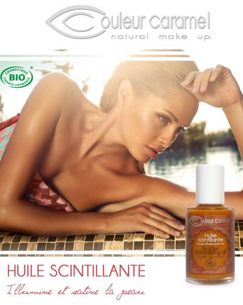 Couleur caramel 118292 huile scintillante bio b embellissetvous fr
