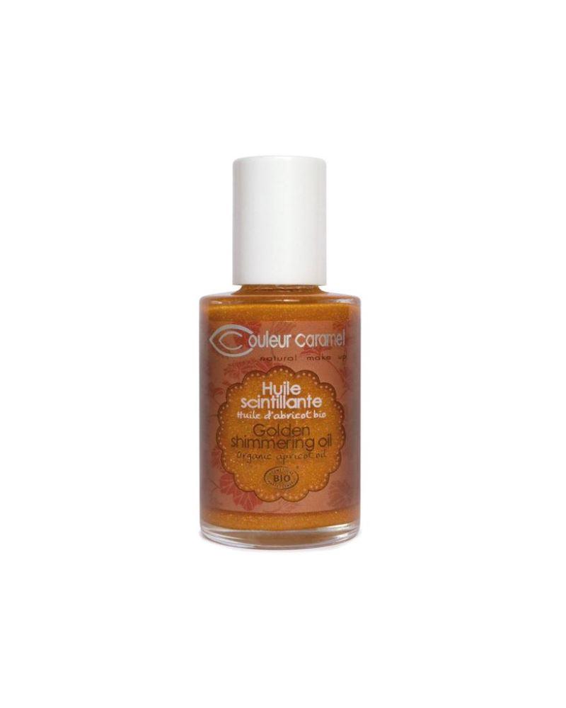 Couleur caramel 118292 huile scintillante bio embellissetvous fr