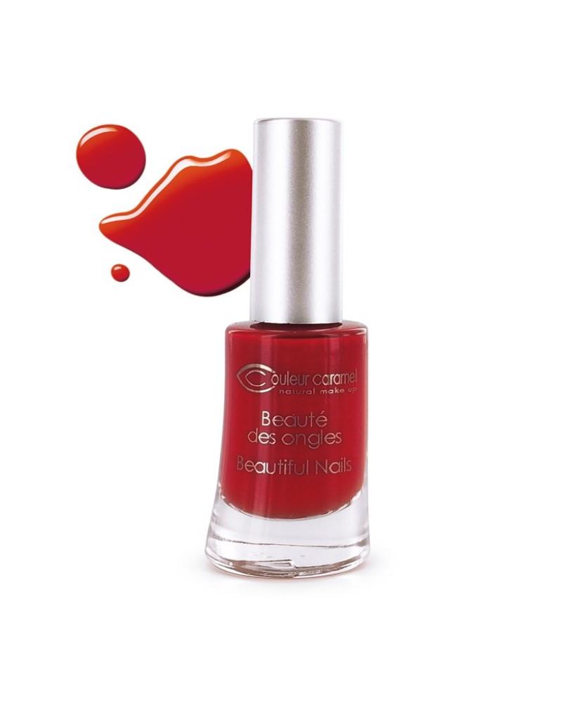 Couleur caramel vernis a ongles brillants rouge poincetta 42 118842 embellissetvous fr