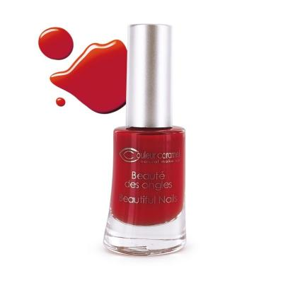 Vernis à Ongles 42 - Rouge poincetta Couleur Caramel