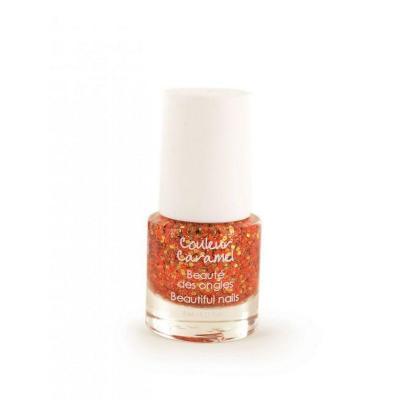 Vernis à Ongles 86 - Pailleté Couleur Caramel