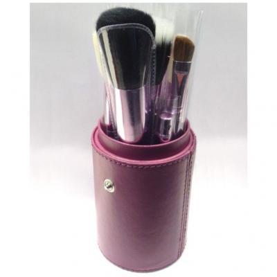 Pot cuir 12 pinceaux maquillage - Violet