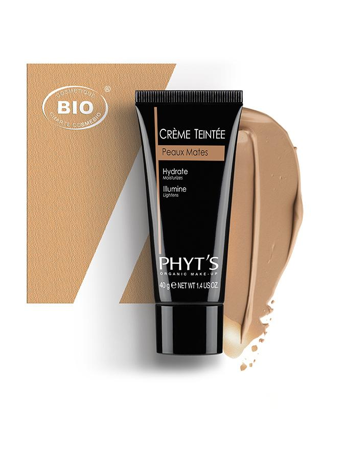 Image creme teintee peaux mates phyts organic make up embellissetvous