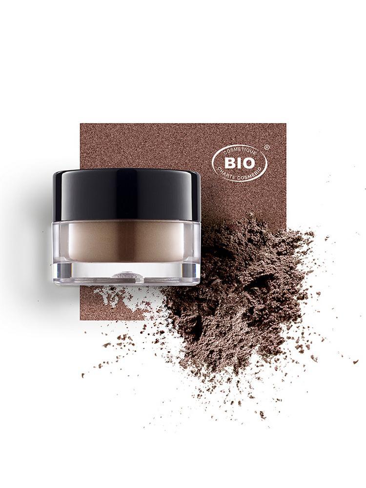 Image fard a paupieres touches de lumiere brun venusien phyts organic make up embellissetvous