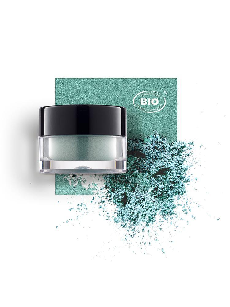 Image fard a paupieres touches de lumiere eclats de vert phyts organic make up embellissetvous