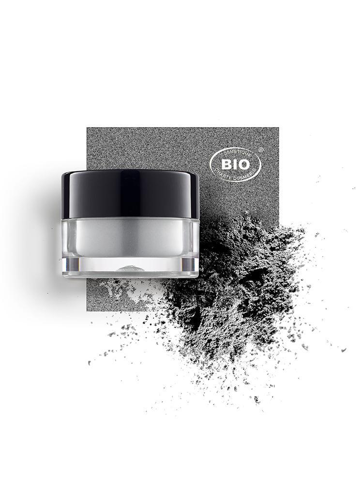 Image fard a paupieres touches de lumiere gris comete phyts organic make up embellissetvous