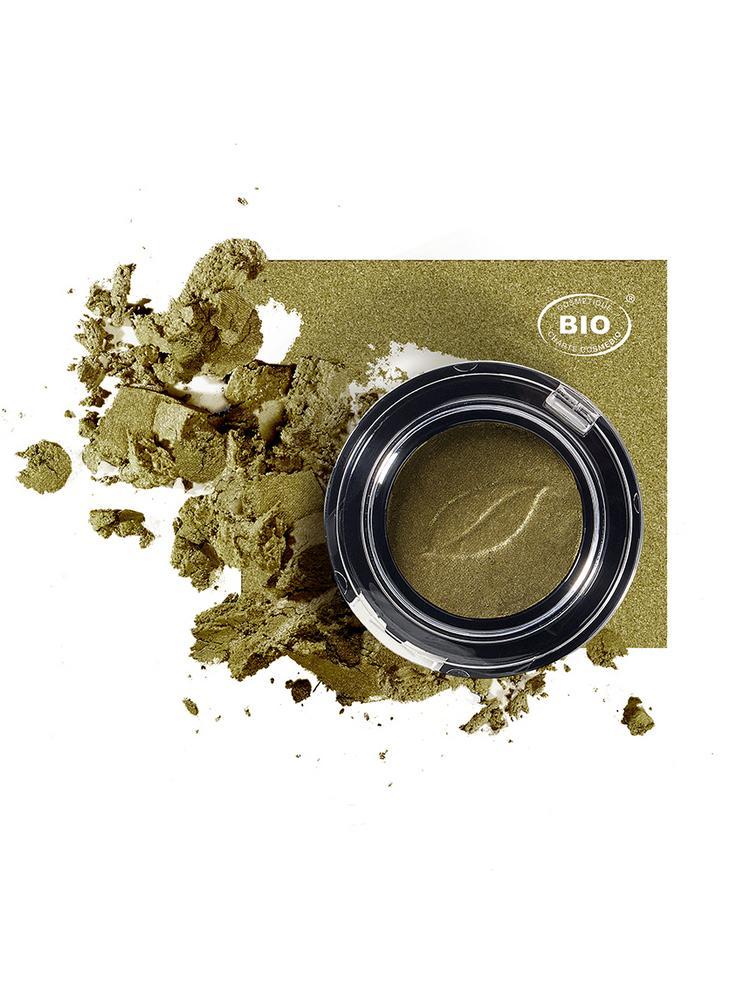 Image fard a paupieres tresor de lumiere vert safari phyts organic make up embellissetvous
