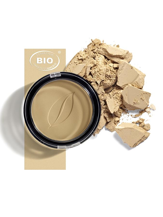 Image poudre de teint compacte satin beige phyts organic make up embellissetvous