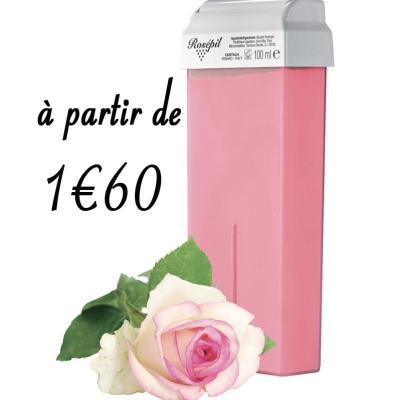 Cartouche cire roll-on Peaux sensibles - Rose